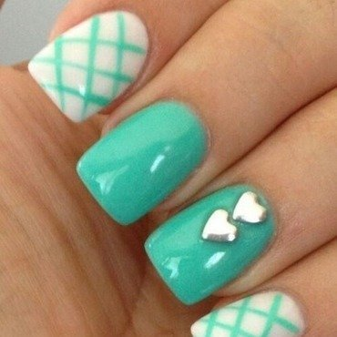 Sky nail art by Julia Koshova