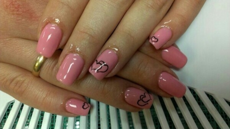 Hart nail art by Julia Koshova