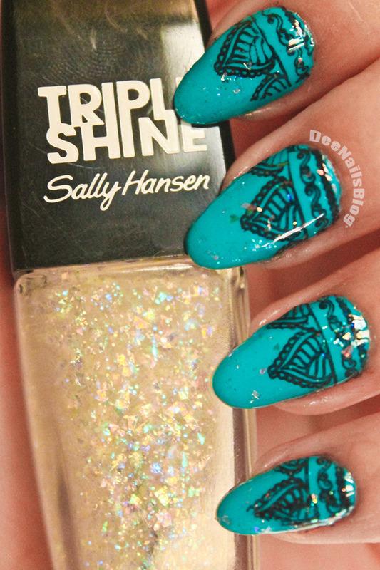 Stamping... nail art by Diana Livesay