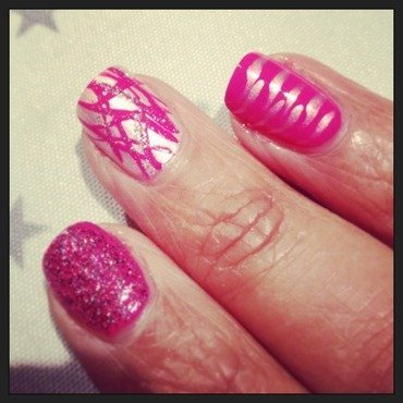 Pinky mani  nail art by PumpUrNails by Chrisblackpink