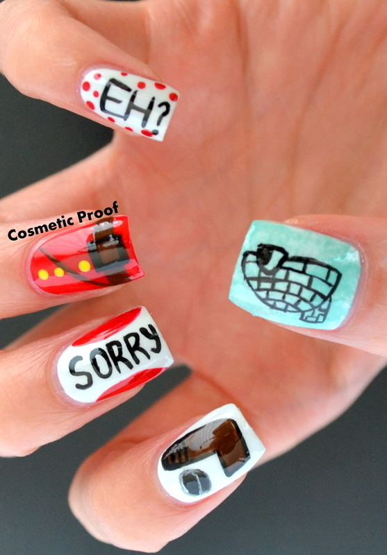 Canadian Stereotypes nail art by Jayne