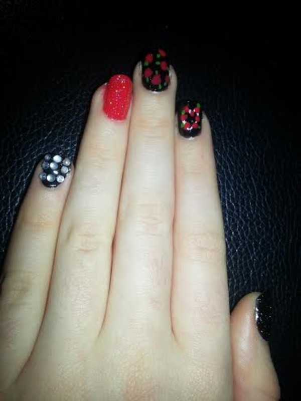Perrie Edwards Inspired nail art by Ciara Donoghue