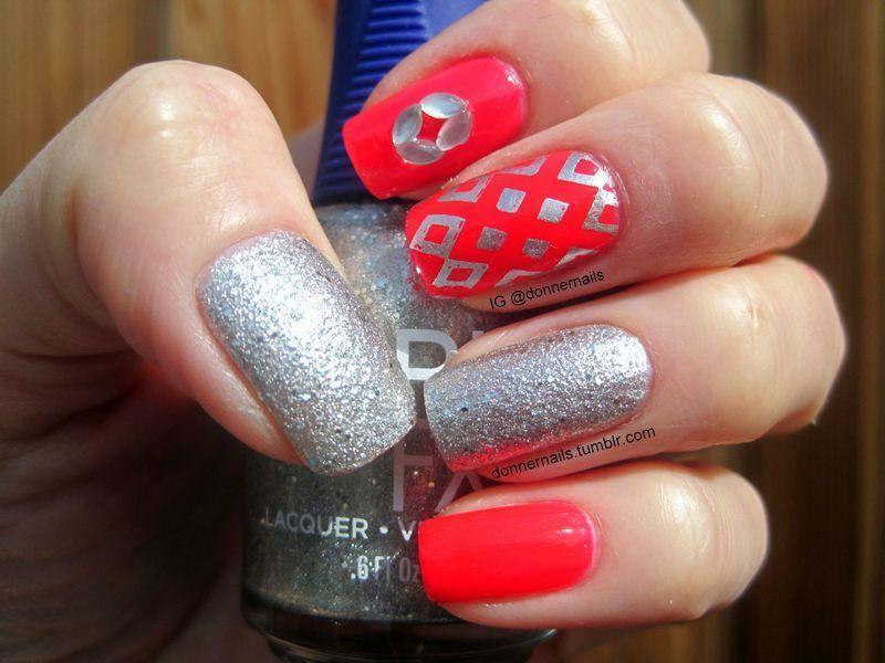 Diamonds nail art by Donner