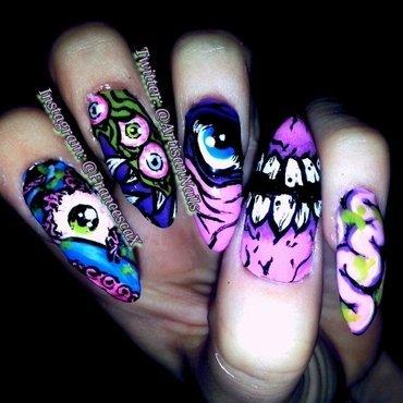 Iron Fist Nails nail art by Francesca