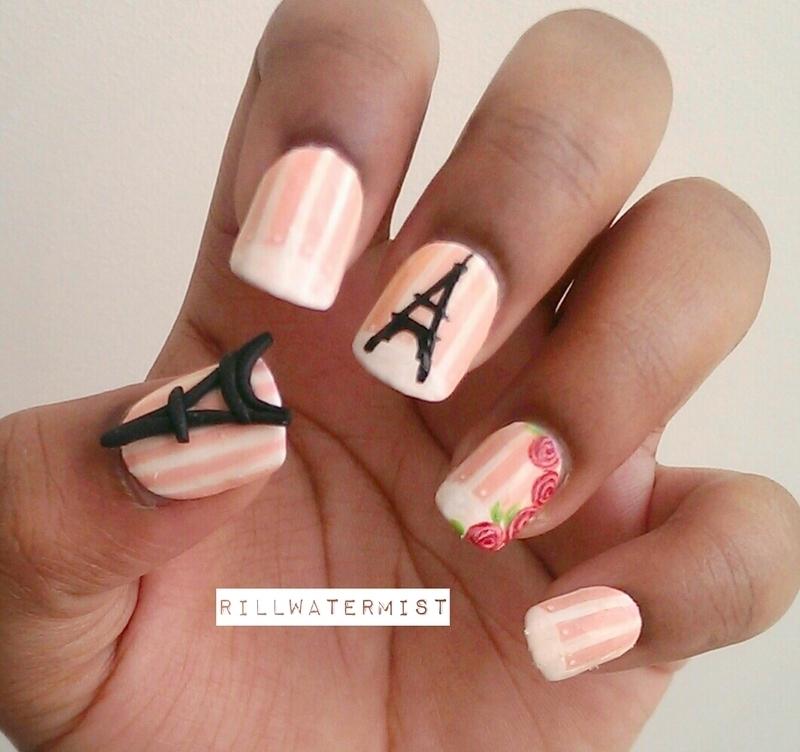 Paris Nails nail art by tyler cannida