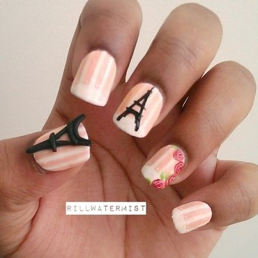 Paris Nails nail art by tyler cannida