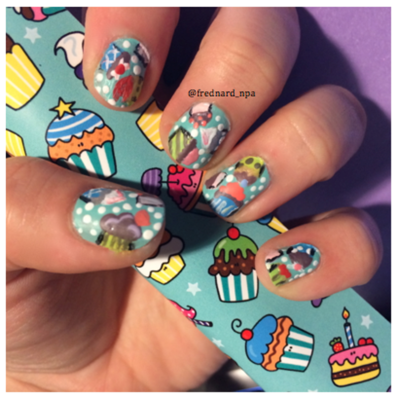 Cupcake party nail art by Frednard