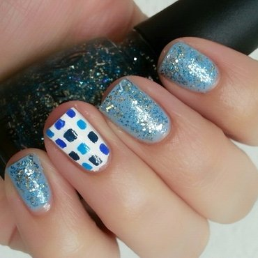 Squares nail art by Ximena Echenique