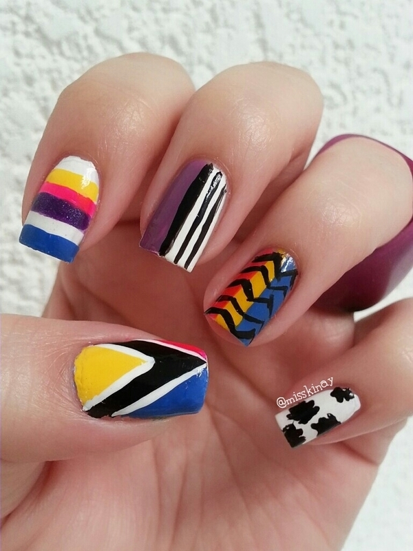 Mix & Match nail art by Ximena Echenique
