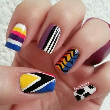 Mix & Match nail art by Ximena Echenique