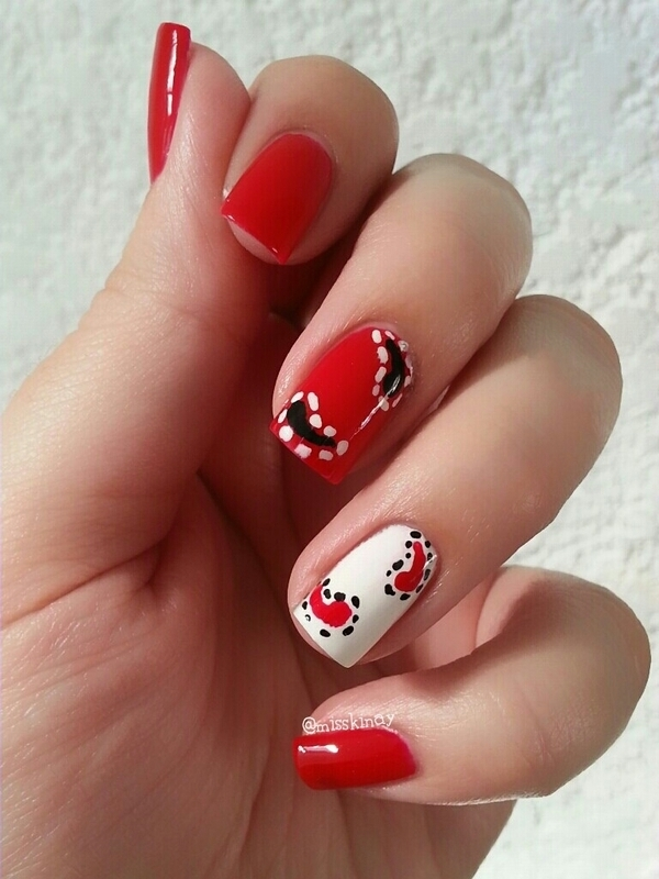 Patterns nail art by Ximena Echenique