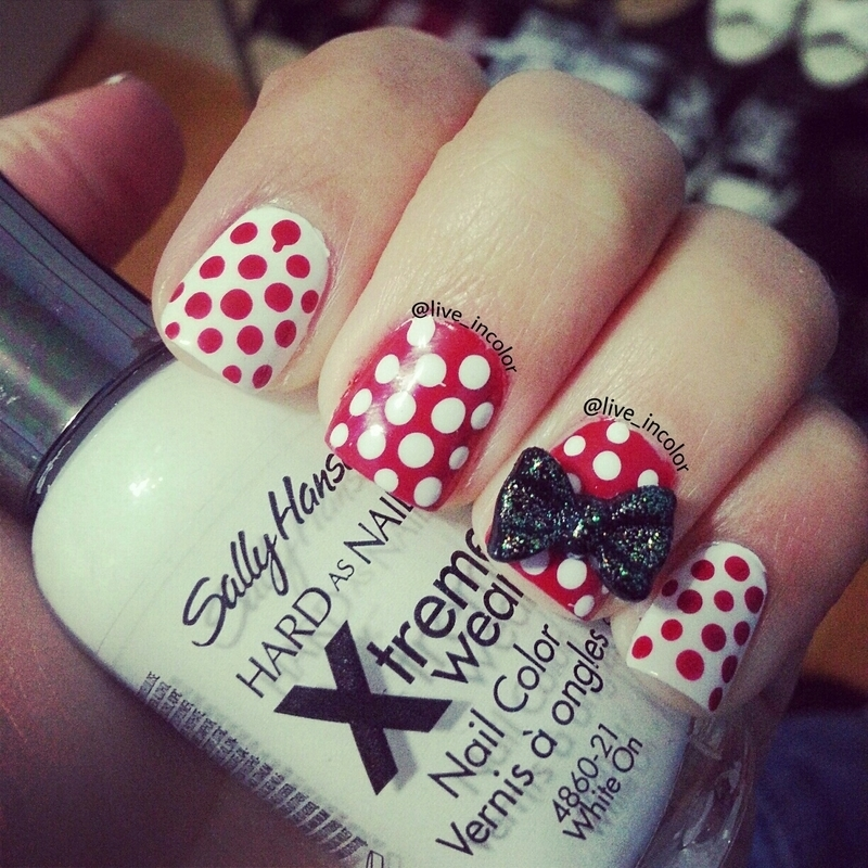 Minnie mouse nail art by kEElyN mARiN