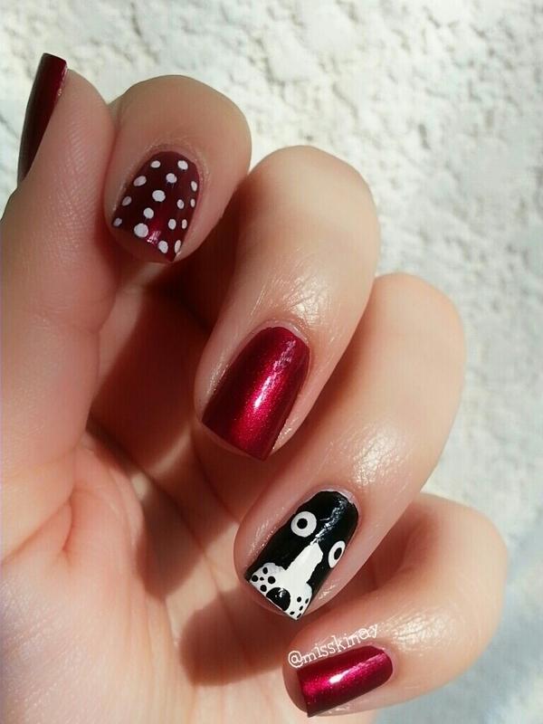 My dog & my nails nail art by Ximena Echenique