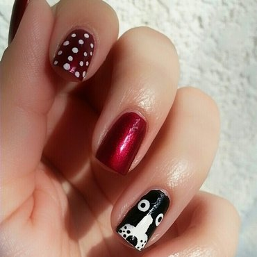 My dog & my nails nail art by Ximena Echenique
