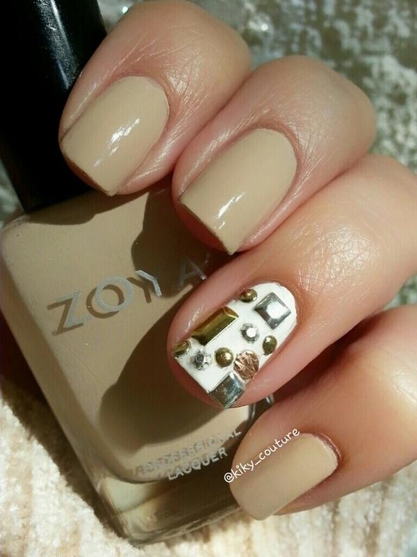 Studs  nail art by Ximena Echenique