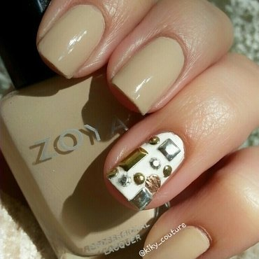 Studs  nail art by Ximena Echenique
