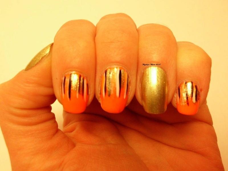 Firey nail art by Angelique Adams