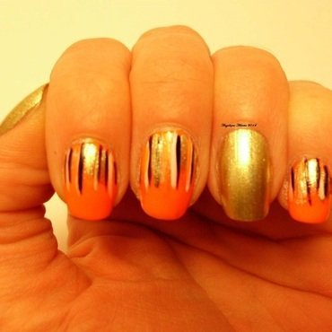 Firey nail art by Angelique Adams