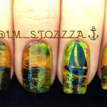 Sailing away nail art by Louise