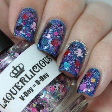 V-Day=D-Day swatch nail art by Jordan