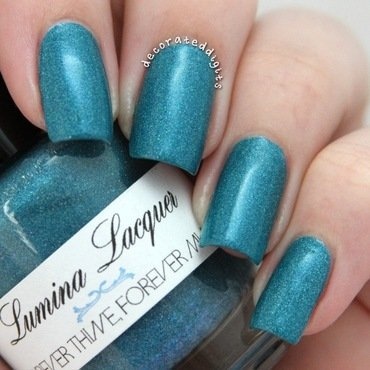 Forever Thine, Forever Mine swatch nail art by Jordan