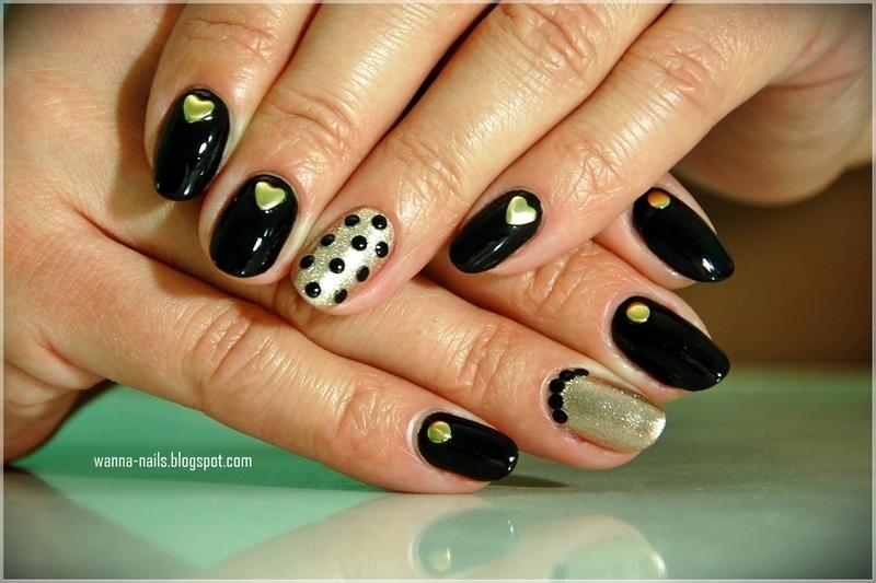 Studded manicure nail art by Oana Chiciu