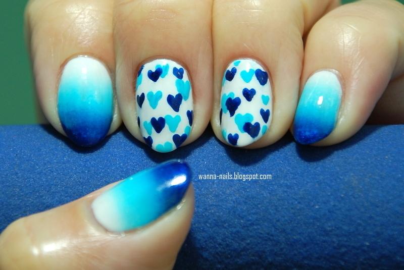 Blue Valentine nail art by Oana Chiciu