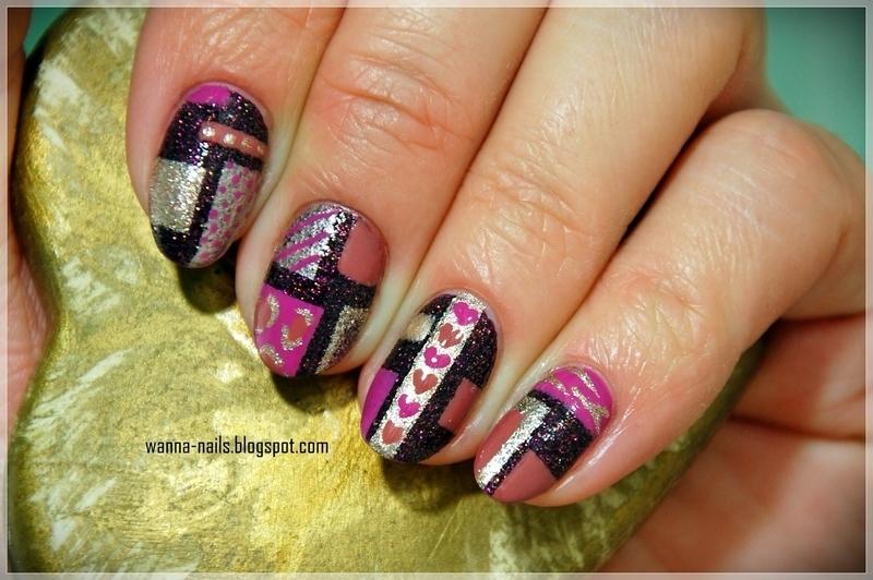 Color blocking nail art by Oana Chiciu