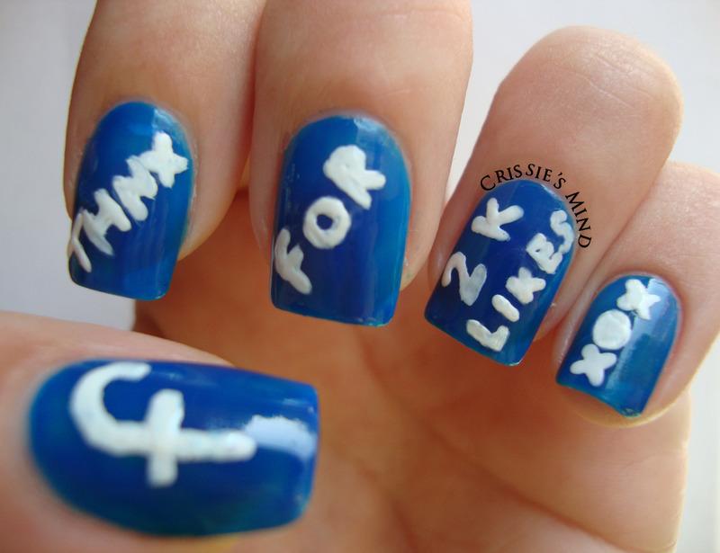 Facebook likes nail art by Christina