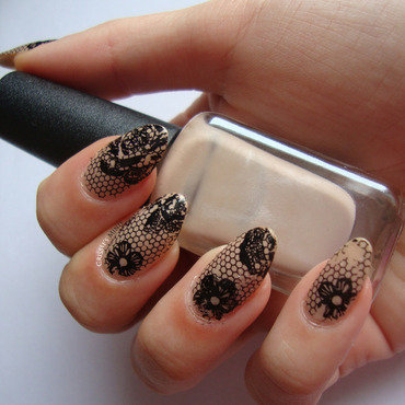 N. lace nude nails thumb370f