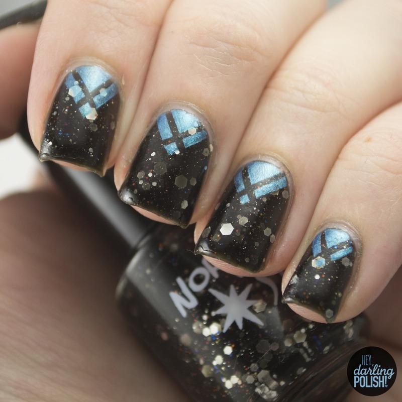 Galactic Chevrons nail art by Marisa  Cavanaugh