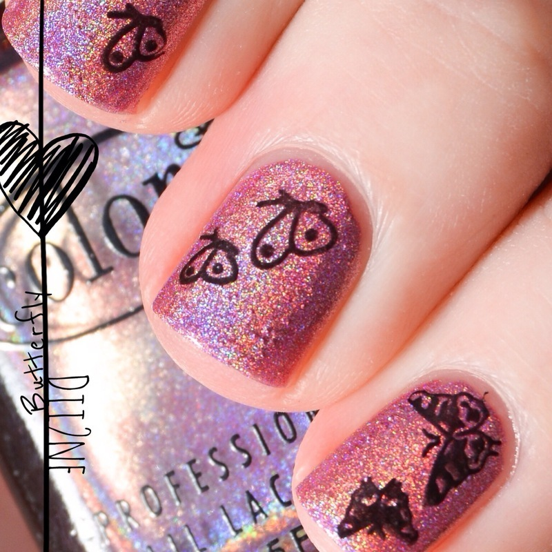 Butterfly Like Holo :) nail art by Dii2ne
