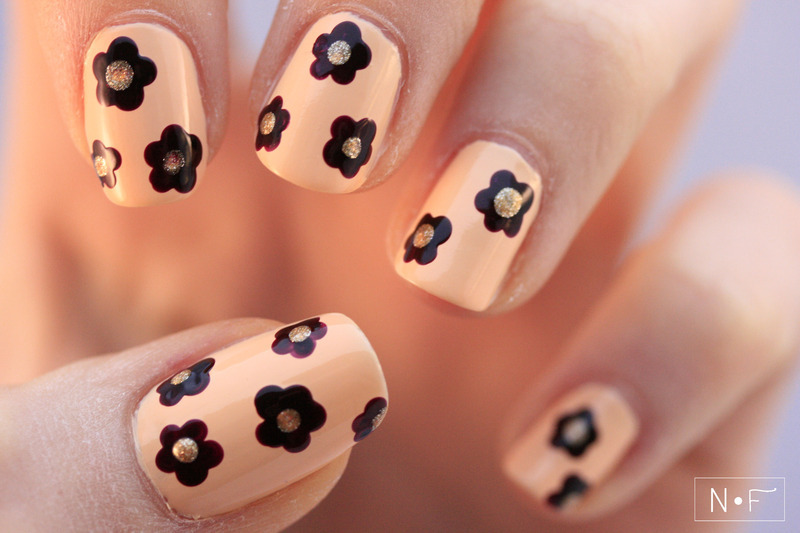 easy dotted flowers nail art by NerdyFleurty - Nailpolis: Museum of ...