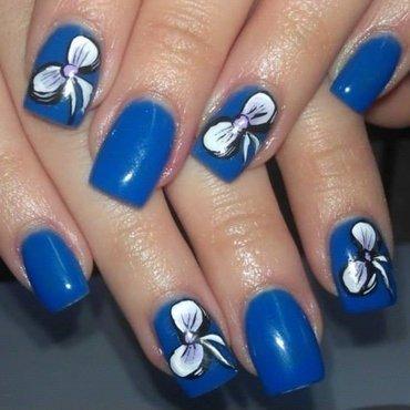 sweet blue candy nail art by Marija  Janeva
