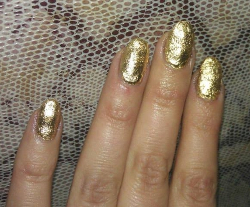 Luxury golden fashion nail art by Marija  Janeva