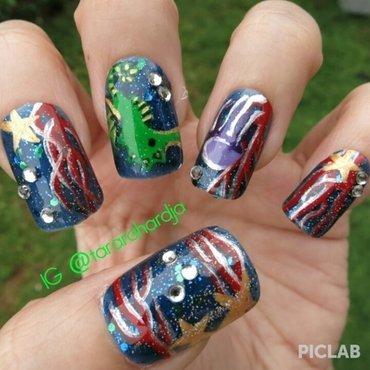 Underwater Gems nail art by Tara Rahardja