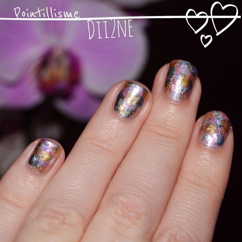 Pointillisme Art nail art by Dii2ne