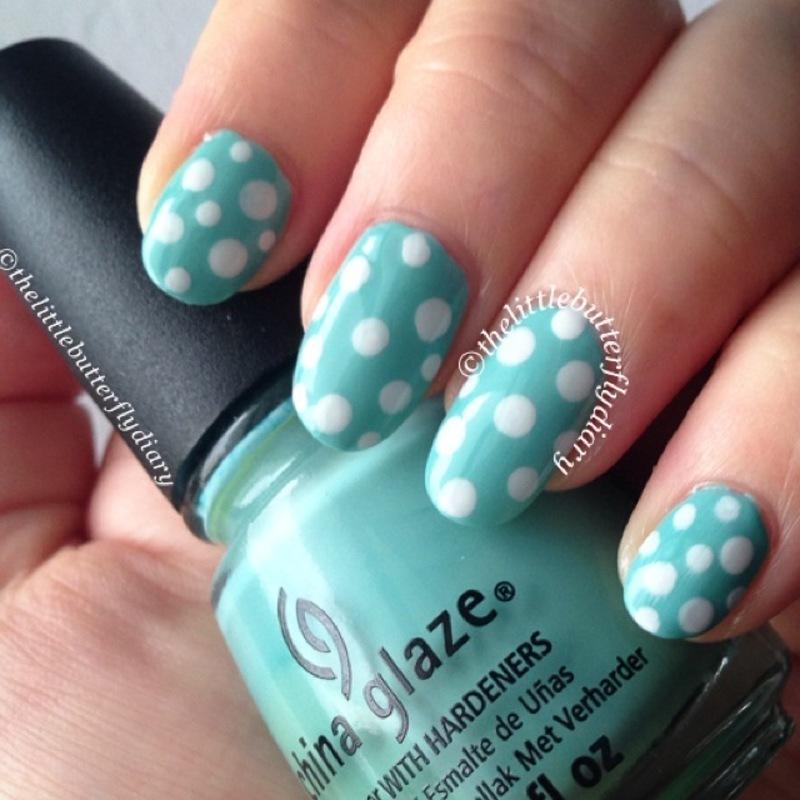 Fresh Polka Dots nail art by Juliet