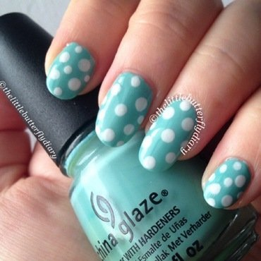 Fresh Polka Dots nail art by Juliet