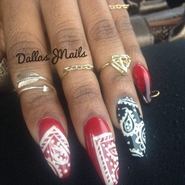 Thug life  nail art by Dallas