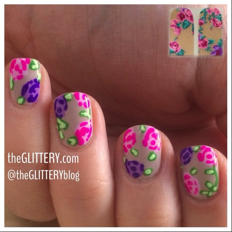 flowers inspired by nail stickers! nail art by Ari Fund - Nailpolis ...