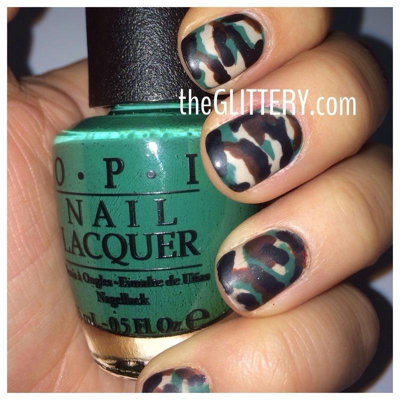 Matte Camo Nails! nail art by Ari  Fund