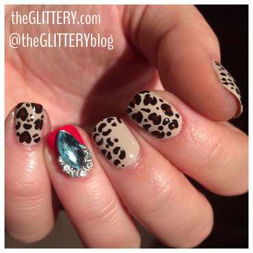 Leopard Bling!  nail art by Ari  Fund
