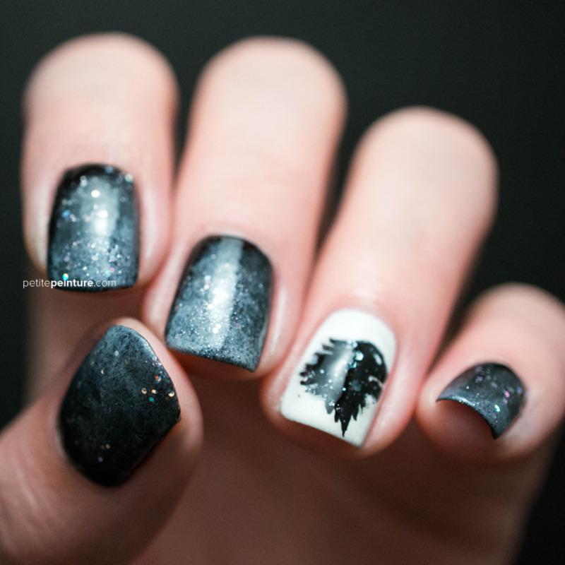 Game of Thrones | House Stark nail art by Petite Peinture