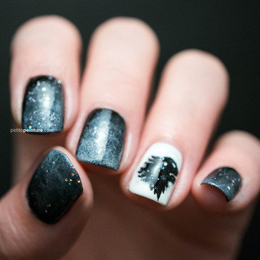 Game of Thrones | House Stark nail art by Petite Peinture