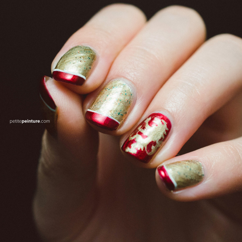 Game of Thrones | House Lannister nail art by Petite Peinture
