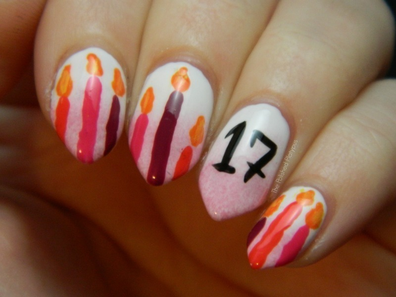 17th Birthday Nails nail art by Allie  Hartman
