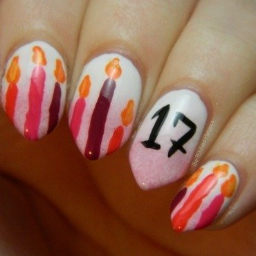 17th Birthday Nails nail art by Allie  Hartman