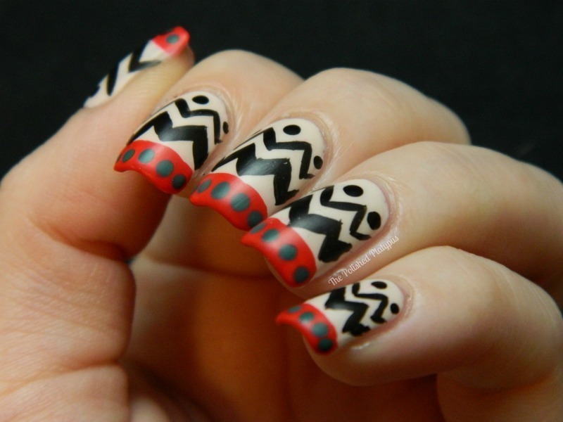 Ugly Christmas Sweater Pattern nail art by Allie  Hartman