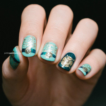 Game of Thrones | House Tyrell nail art by Petite Peinture